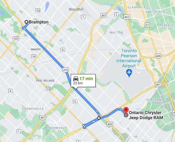chrysler dodge jeep brampton directions